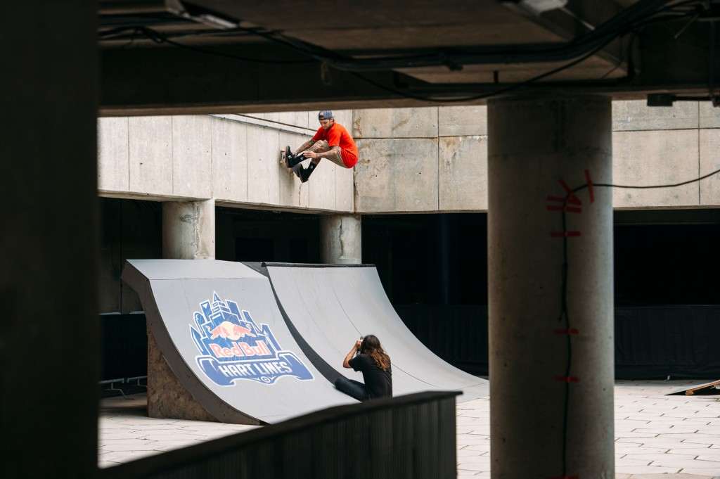 Ryan Sheckler opens up new possibilities at Detroit's Hart Plaza during Red Bull Hart Lines 2015. Photo: Ryan Taylor