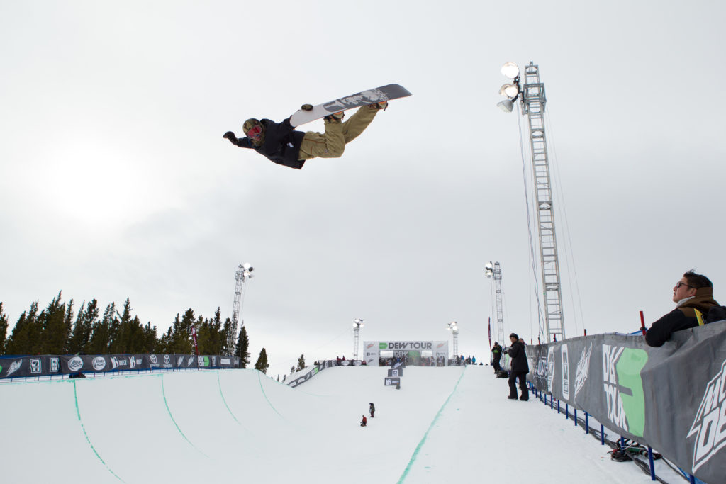 Danny Davis at the 2015 Breckenridge Dew Tour, one of the most stylish and innovative pipe riders to ever drop in.