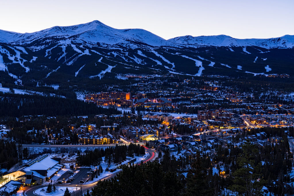 Breckenridge, home of the 2016 winter Dew Tour.