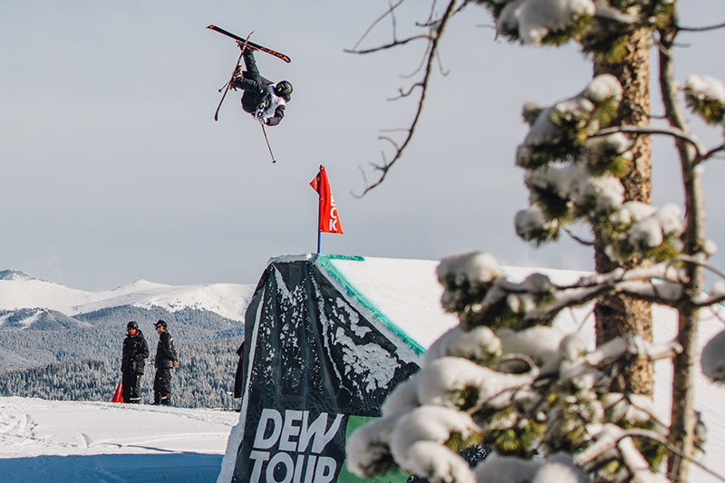 Gus Kenworthy, the reigning Dew Tour freeski slopestyle champion.