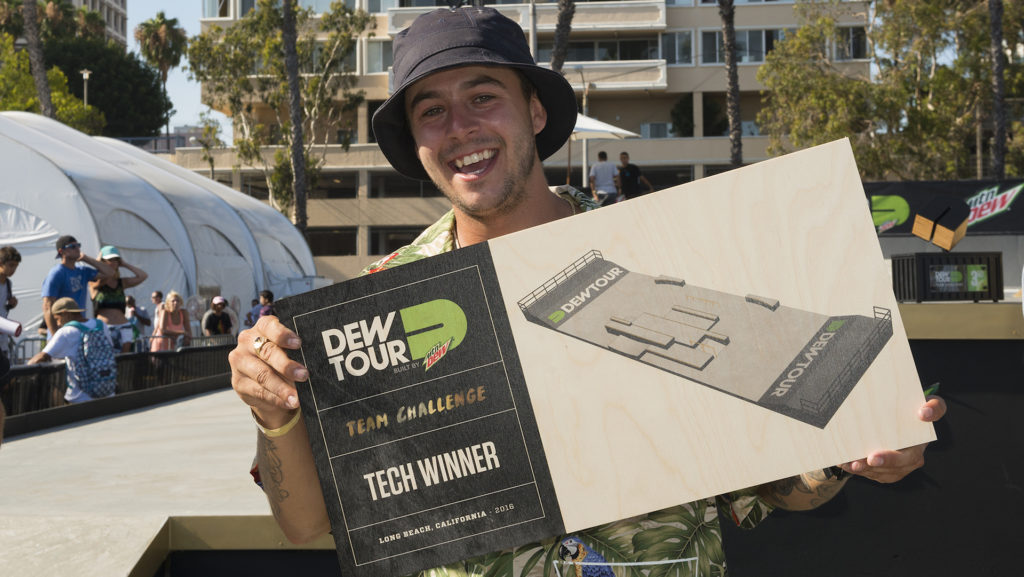 TJ Rogers earned the Tech title at Dew Tour for the tricks he threw down for bLind Skateboards during the Team Competition.