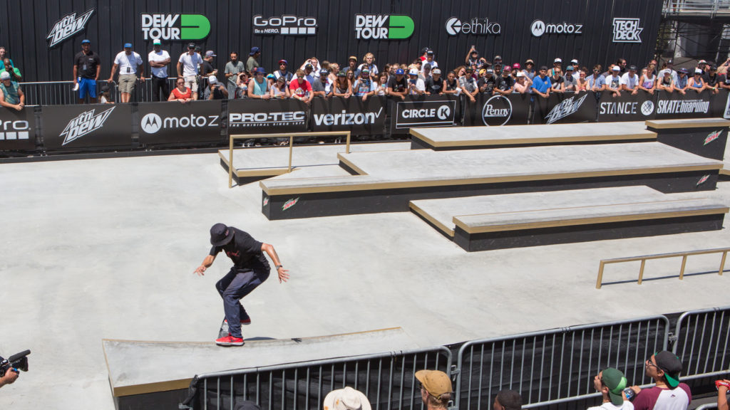 TJ Rogers ran point across the entire Tech Course for bLind Skateboards in the Dew Tour Team Competition.