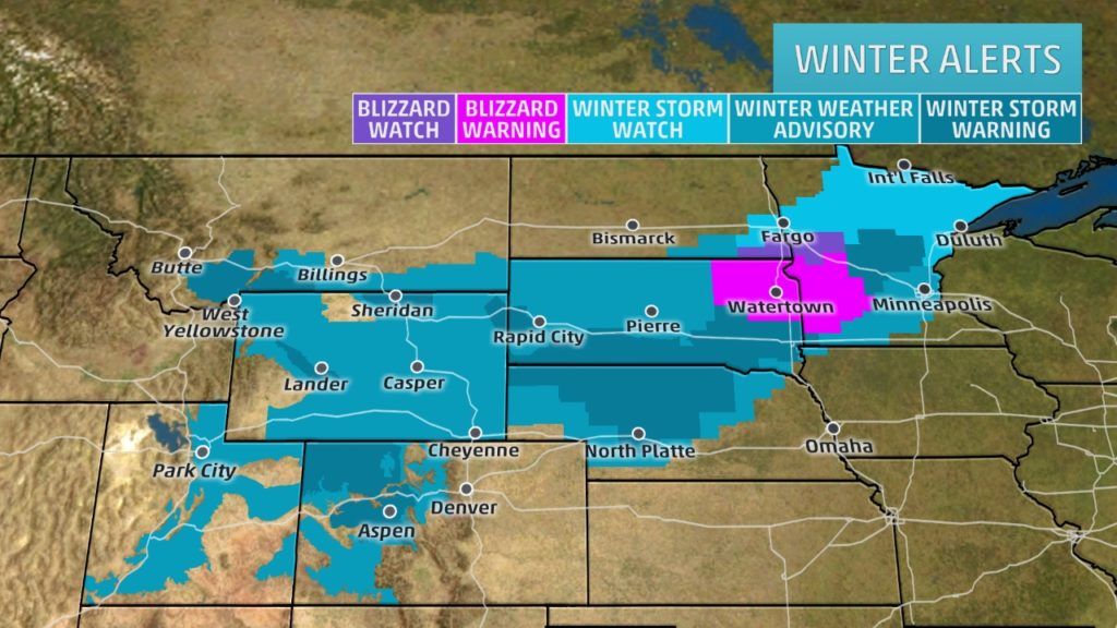 A look at the winter storm system hitting the Midwest from Weather.com.